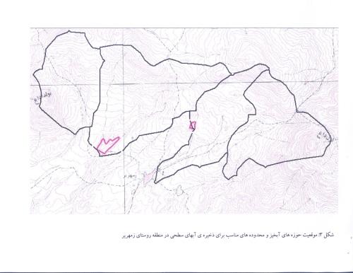 موقيت حوزه آبخيزي داري ونقاط تعين شده به لحاظ خاک شناسي